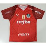 Camisa Infantil Palmeiras Goleiro Vermelha 2019