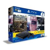 Izalo: Playstation 4 1tb Slim + 3 Juegos Y 3 Meses Psn Plus
