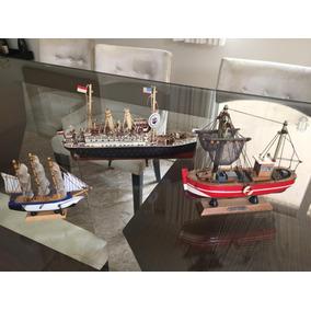 Kit Barcos Decorativos Raros (3 Und)