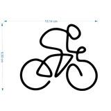 Adesivo Bicicleta 10cmx15cm Ciclismo Bike Pedalar Linha