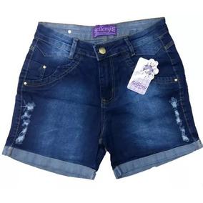 Shorts Jeans Hot Pants Plus Size Com Lycra