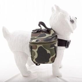 Mochila Camuflada Para Cães C  Bolsos Laterais Porta Treco¿ 584143b66f29