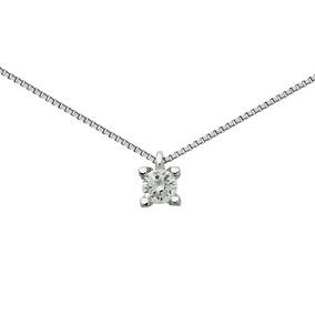 Pingente Ponto De Luz Ouro Branco 18k,diamantes E Esmeralda ... f0b4c6b550