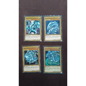 4x Dragão Branco De Olhos Azuis Yugioh Original - 4 Artes