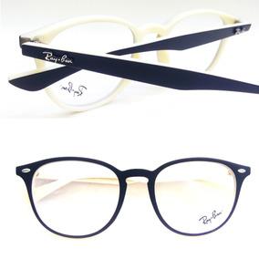 Armação Redonda Na Cor Branca Acetato Oculos De Grau - Óculos no ... 2f6a4eec10