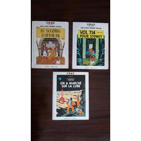 Tintin -três Livros Com Pop Ups, Mecanismos De Animação E 3d