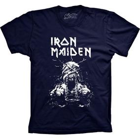 Camiseta 5%off Plus Size Banda Iron Maiden