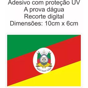 Pacote Adesivo Bandeira Rio Grande Do Sul C/ 5 Unidades