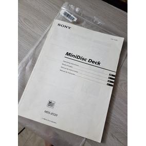 Manual Original Sony Mds Je520