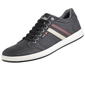 Sapato Masculino Casual Sola Reta+cadarço Couro Ecológico d5d3dbe6e1