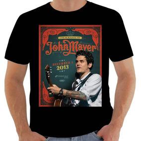 Camisa 6534 Poster John Mayer Live In Wichita 2013 Algodão ded068de35bd7