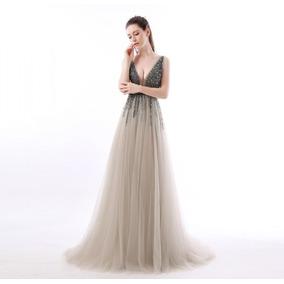 Vestidos de noche elegantes plateados