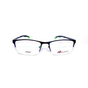 Armação Óculos De Grau New Balance Metal Retangular Promoção 388f7cabf0