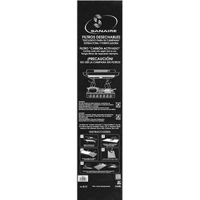 Filtro Carbon Activado Negro Axr-fm 1pz Sanaire