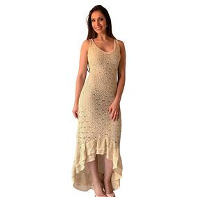 Vestido De Formatura Em Tricô Tricot Com Babado Tendência