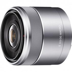 Lente Sony Sel 30mm F/3.5 Macro Prata