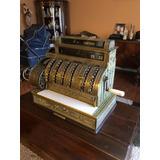 Máquina Registradora Antigua National U.s.a De Bronce