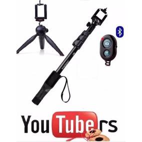 Kit Youtuber Filmagem Celular Vlog Bastão De Self