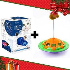 Kit 6 - Fonte Bebedouro Furacao Rosa 110v + Brinquedo