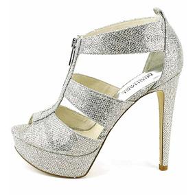 Zapatos Michael Kors Berkely Plateados 25.5 Mex - 8.5 Us!