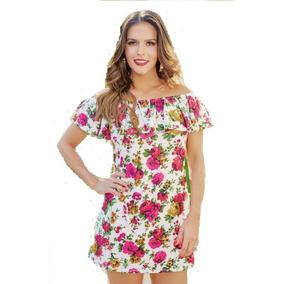 ee816444d Vestido V449 Print Flores Mexicanas Campesino Moda Club Ma