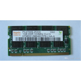 Memoria Ram Laptop Pc2700 1gb Ddr 333mhz Cl 2.5