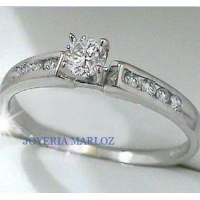 Anillos Comprmiso Diamante Natural .17ct Gh-vs Mod 007