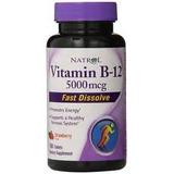 Vitamina B12 5,000mcg 100tbs Natrol Sublingual Pronta Entre