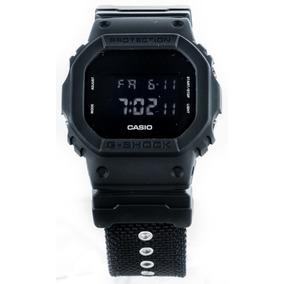 Relógio G-shock Dw5600bbn Clássico Pulseira Cordura Original