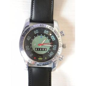 Relógio De Pulso Velocimetro Do Fusca Pulseira Preta