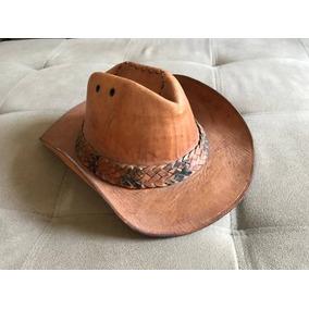 Chapéu De Couro Legítimo Caramelo - Cowboy   Country   Peão 9814f887969