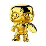 Funko Pop Marvel #377 10 Years Gold Captain America Nortoys