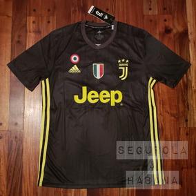 Camiseta Juventus 2018 19 Alternativa Suplente Negra Ronaldo