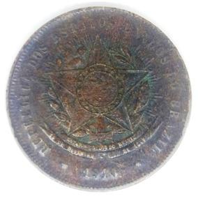 Moeda Brasil 20 Réis 1910 República Estados Unidos Km#490