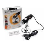 Microscopio Digital Usb 1600x Luz 8led 2mp Graba Video