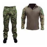 Farda Combat Shirt Multicam + Calça Tatica Airsoft Foxboy