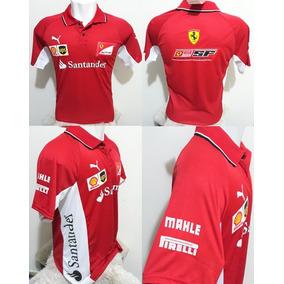Camisa Polo Scuderia Ferrari Santander Formula 1 Camiseta F1 9756f1f324f