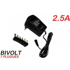 Fonte Universal 3v 4.5v 6v 7.5v 9v 12v 3a 30w 7 Plug Bivolt