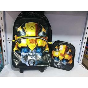 Transformers Kit Mochila De Rodinha Com Lancheira