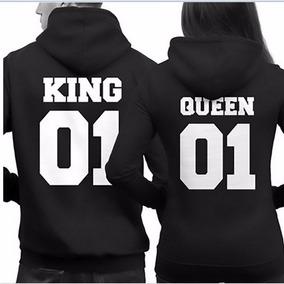 Par De Sudaderas Pareja Novios King, Queen Envio Gratis