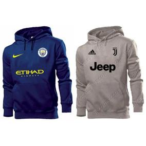 Kit 2 Blusas Moletom Manchester City + Juventus Time Futebol