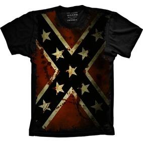 Camisa, Camiseta Países E Seleção Confederados Personalizada