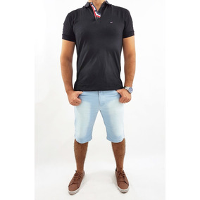Kit 3 Bermuda Slim Masculina Plus Size
