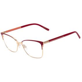 808325a541385 Ana Hickmann Ah 1364 - Óculos De Grau 07a Vermelho E Dourado