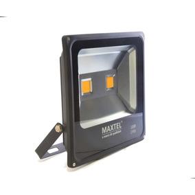 Kit 02 Refletor Maxtel Led 100w Verde Holofote Bivolt Ip66