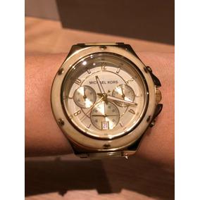 Relógio Michael Kors Feminino Marfim E Dourado Mk5449 - Relógios De ... 36d1dc3728