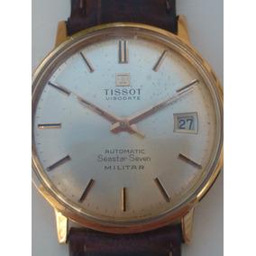 68c4c3db9ba Relógio Tissot Militar Automático Plaquê Ouro Antigo Coleção ...