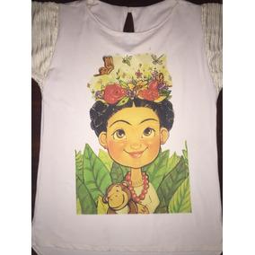 Playeras De Frida Kahlo Seda Likra Conford