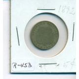 Moneda De Niquel Cuño Birminghan De 5 Centavos De 1892
