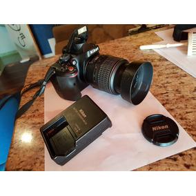 Câmera Nikon D5100, Lente 18-55, Carregador, Bateria E Bag
